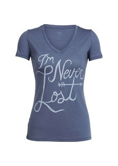 Icebreaker Women's Tech Lite SS V Neck Top - Graphic Collection