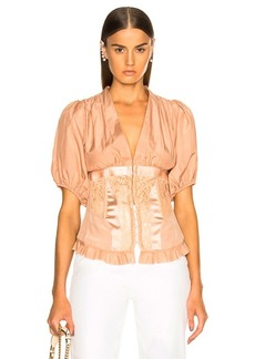 ICONS Objects of Devotion Corset Top With Puff Sleeves Top