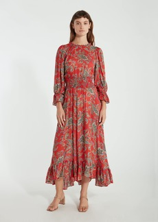Icons The Long Peasant Midi Dress - M - Also in: L, XS