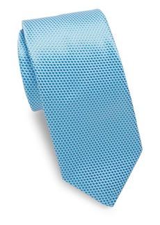 Ike Behar Blue Polkadot Tie