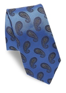 Ike Behar Dark Purple Paisley Tie