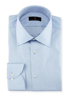 Ike Behar Gold Label Micro-Herringbone Cotton Dress Shirt