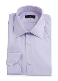 Ike Behar Gold Label Micro-Herringbone Dress Shirt