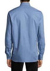 Ike Behar Dot Print Sport Shirt