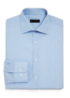 Ike Behar Fine Stripe Regular Fit Dress Shirt