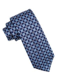 Ike Behar Geometric Silk Tie