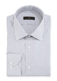 Ike Behar Gold Label Check Cotton Dress Shirt