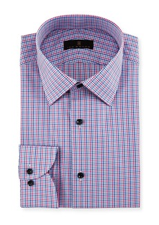Ike Behar Gold Label Micro-Check Cotton Dress Shirt