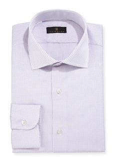 Ike Behar Gold Label Micro-Gingham Dress Shirt