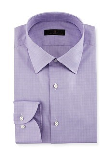 Ike Behar Gold Label Micro-Glen Plaid Dress Shirt