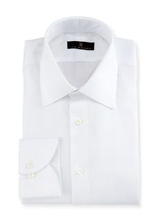 Ike Behar Gold Label Micro-Herringbone Dress Shirt