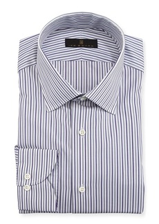Ike Behar Gold Label Striped Cotton Dress Shirt