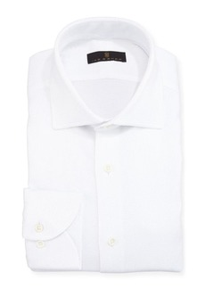 Ike Behar Gold Label Textured Cotton Dress Shirt