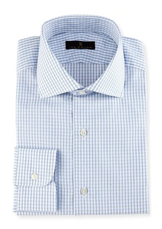 Ike Behar Gold Label Windowpane Check Dress Shirt