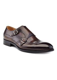 Ike Behar Men's Hand Made Double Monk Strap Men's Shoes