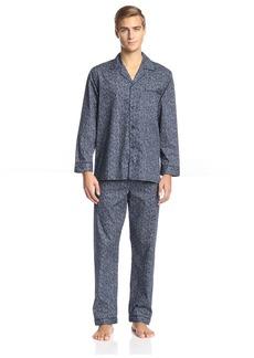 Ike Behar Men's Paisley Long Sleeve Pajama  L