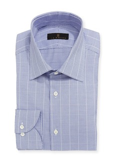 Ike Behar Mini-Check Windowpane Dress Shirt