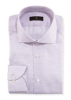 Ike Behar Mini Grid Textured Dress Shirt