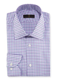 Ike Behar Plaid Cotton Dress Shirt
