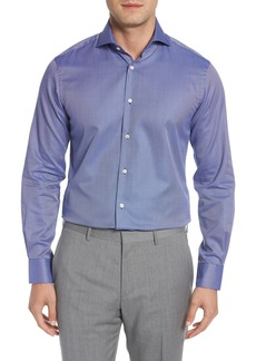 Ike Behar Regular Fit Solid Dress Shirt