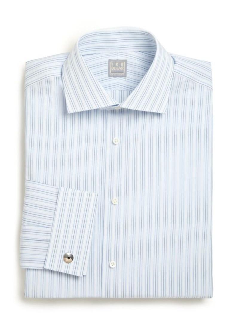Ike Behar Regular-Fit Striped Cotton Dress Shirt
