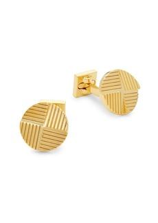 Ike Behar Round Etched Cufflinks