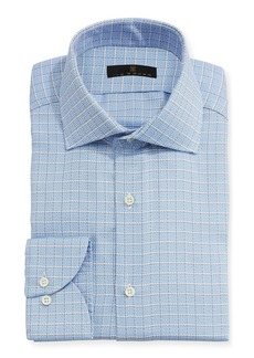 Ike Behar Textured-Check Dress Shirt