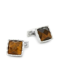 Ike Behar Tiger's Eye Square Cufflinks