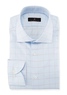 Ike Behar Windowpane Cotton Dress Shirt