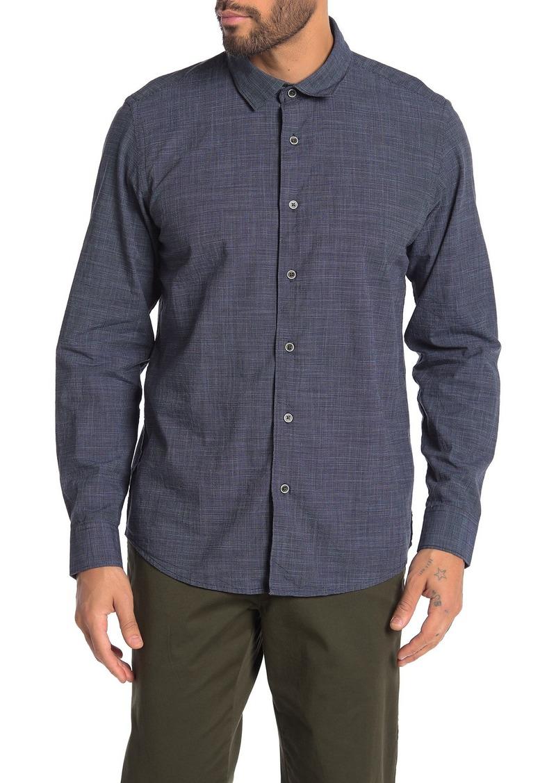 Ike Behar Long Sleeve Woven Knit Dress Shirt
