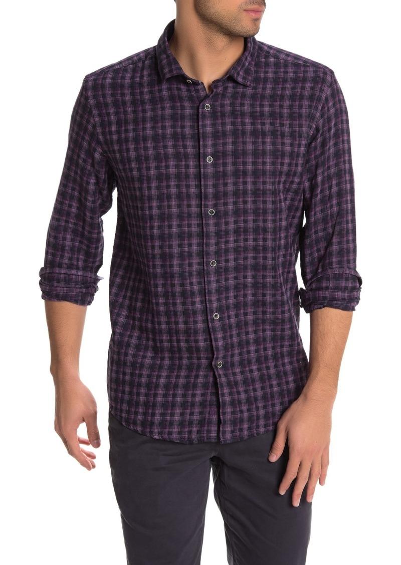 Ike Behar Long Sleeve Woven Plaid Dress Shirt