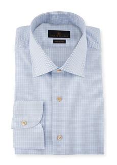 Ike Behar Marcus Grid-Check Cotton Barrel-Cuff Dress Shirt
