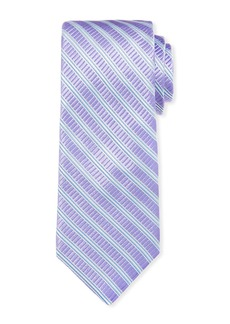 Ike Behar Men's Cabana Stripe Silk Tie