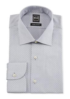 Ike Behar Men's Dotted Cotton Dress Shirt