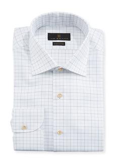 Ike Behar Men's Fredrick Grid-Pattern Dress Shirt