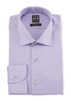 Ike Behar Men's Textured Cotton Dress Shirt