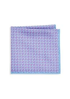 Ike Behar Purple Paisley Pocket Square