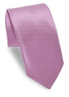 Ike Behar Purple Polkadot Tie