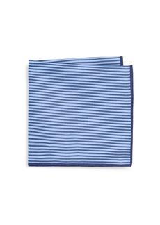 Ike Behar Purple Stripe Pocket Square
