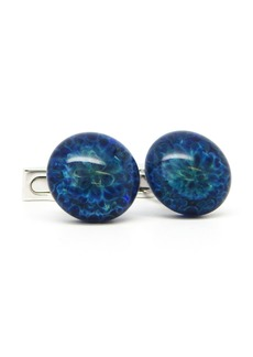 Ike Behar Round Glass Cufflinks