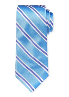 Ike Behar Royal Oak Striped Silk Tie