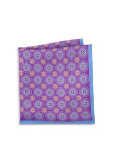 Ike Behar Silk Medallion Pocket Square
