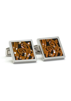 Ike Behar Square Mother-of-Pearl Mosaic Cufflinks