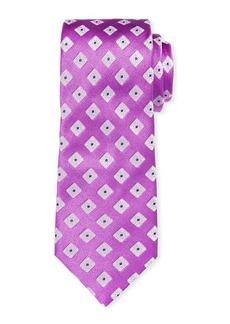 Ike Behar Summer Squares Silk Tie