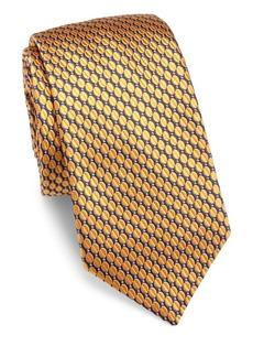 Ike Behar Textured Silk Tie