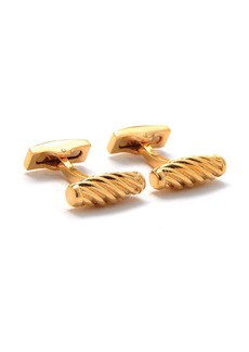 Hickey Freeman Twisted Gold-Plated Cufflinks