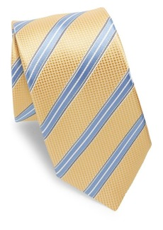 Ike Behar Yellow & Blue Stripe Tie
