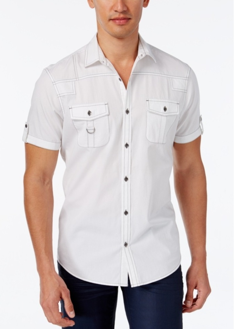 Inc International Concepts Men's Adenine Short-Sleeve Shirt, Only at Macy's