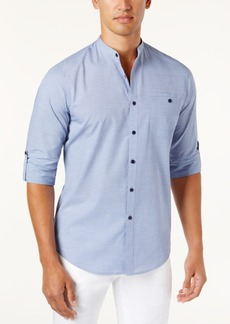 INC I.n.c. Men's Band-Collar Utility Shirt, Created for Macy's
