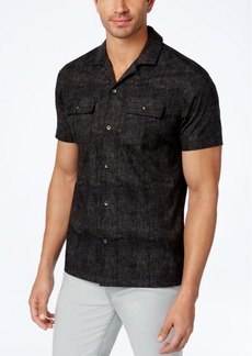 INC I.n.c. Men's Camp-Collar Dot-Pattern Shirt, Created for Macy's